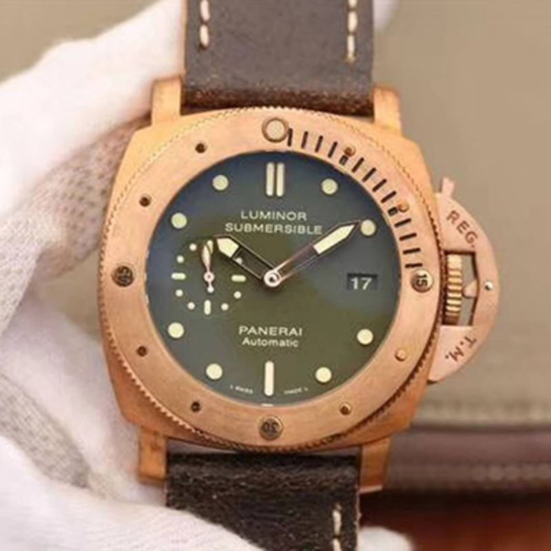 VS厂 Panerai 沛纳海 LUMINOR SUBMERSIBLE 1950 3 DAYS AUTOMATIC BRONZO Pam00382/Pam382洗手防水表