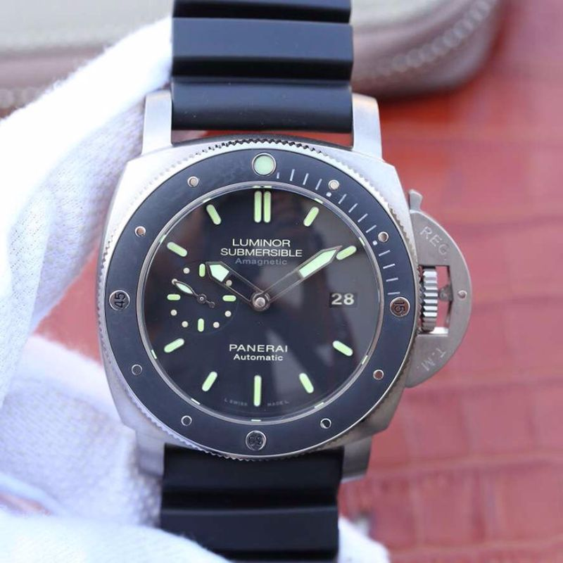 VS厂 Panerai 沛纳海 LUMINOR SUBMERSIBLE 1950 AMAGNETIC 3 DAYS AUTOMATIC TITANIO Pam00389/Pam389复刻表洗手防水表